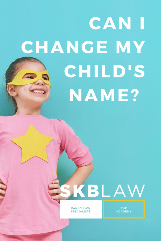 changing child's name