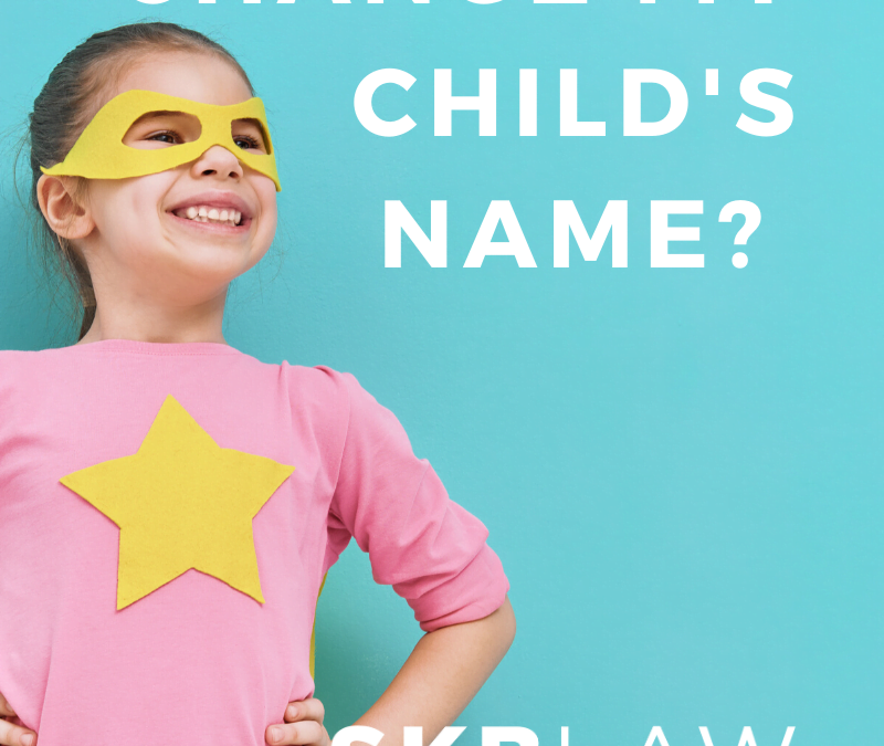 Can I Change My Child's Name?