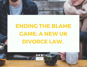New Divorce Law:  ending the blame game